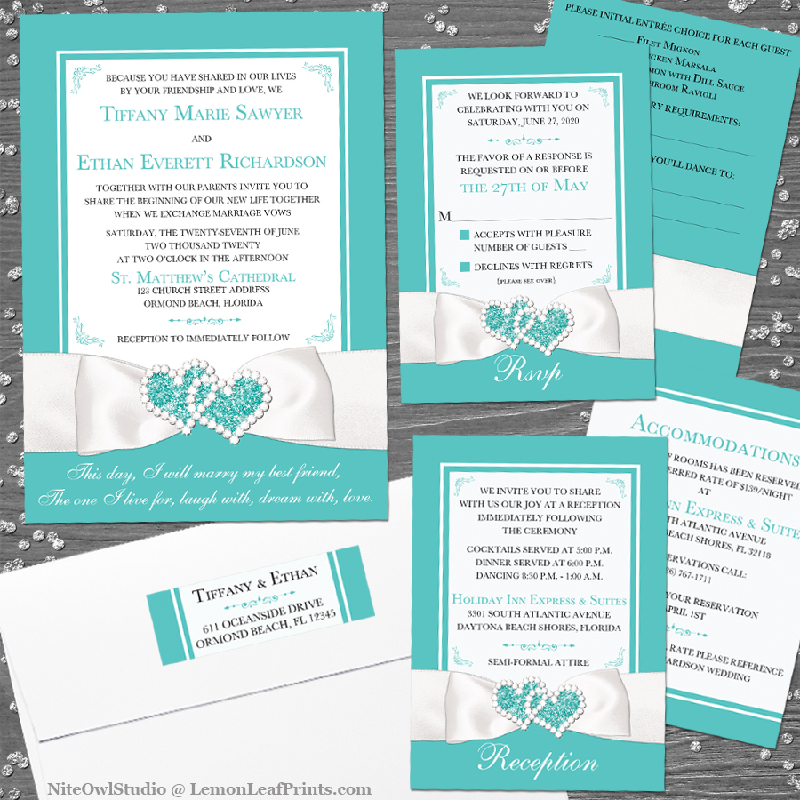 Robin S Egg Blue And White Wedding Invitation Collection Niteowl Studio S Stationery Blog